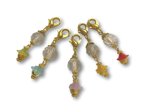 Crystal CF - #006 Set of 5 Stitch Markers