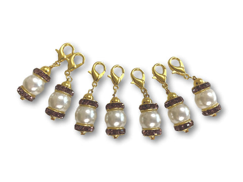 Crystal CP - #051 Set of 7 Stitch Markers