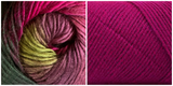 (100% ACRYLIC) FUCHSIA + CALLA LILY - Embossed Fall Pocket Shawl KIT