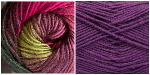 (PREORDER) PURPLE+ CALLA LILY - Embossed Fall Pocket Shawl KIT