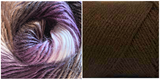 (NEW) CHOCOLATE + CREPUSCLE (100% ACRYLIC) - Embossed Fall Pocket Shawl KIT