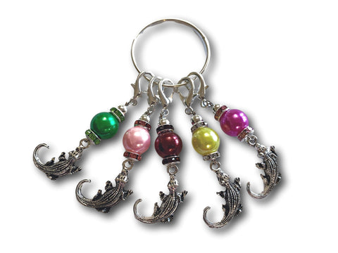 Crocodile M1 - #035 - Set of 5 Stitch Markers