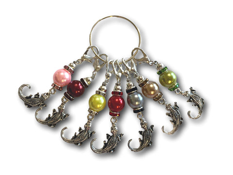 Crocodile M1 - #033 - Set of 7 Stitch Markers