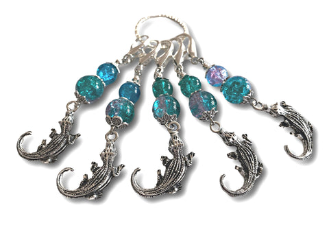 Crocodile M3 - #062 - Set of 5 Stitch Markers - Bonita Patterns