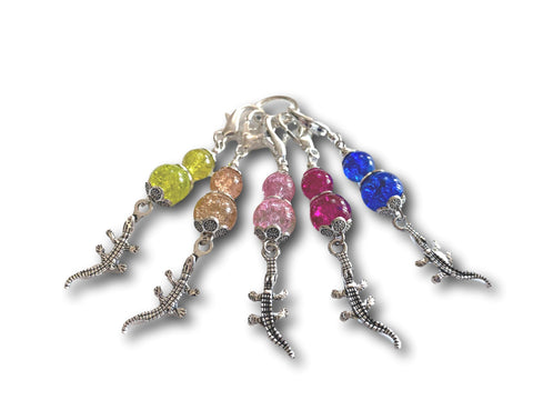 Crocodile M4 - #066 - Set of 5 Stitch Markers - Bonita Patterns
