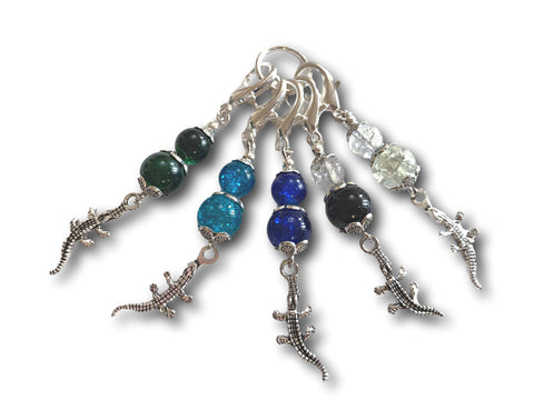 Crocodile M4 - #071 - Set of 5 Stitch Markers - Bonita Patterns
