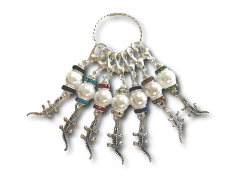 Crocodile M5 - #082 - Set of 7 Stitch Markers - Bonita Patterns