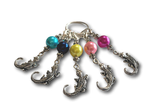 Crocodile M6 - #093 - Set of 5 Stitch Markers