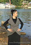 Crocodile Stitch Circular Vest - Bonita Patterns