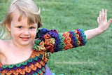 Crocodile Stitch Rainbow Princess Dress - Bonita Patterns
