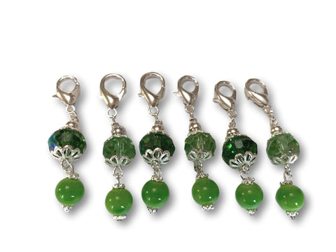 Crystal C2 - Ref #002 Set of 6 stitch markers - Bonita Patterns