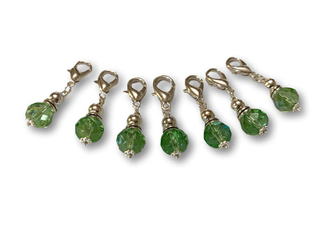 Crystal C1 - Ref #011 Set of 7 stitch markers - Bonita Patterns