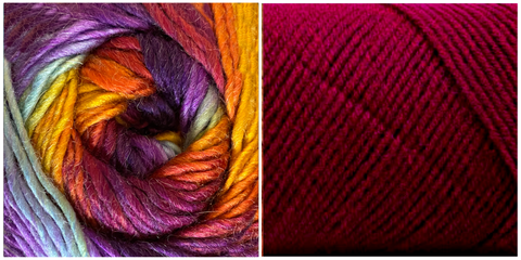 (NEW) DARK FUCHSIA + EASY TO LOVE - Embossed Natura Shawl KIT