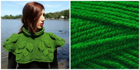 KIT GREEN LEAF - Embossed Branches Cowl