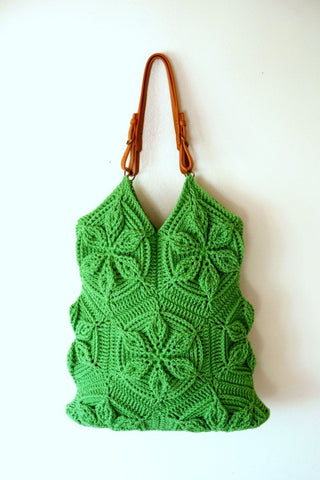 Embossed Crochet Hexagon Motif Handbag - Bonita Patterns