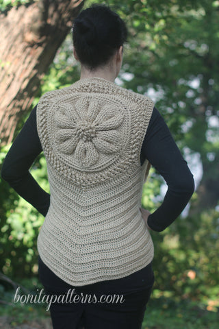 Embossed Daisy Vest - Bonita Patterns