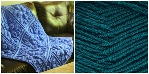 KIT PETROLEUM BLUE (Solid Colorful) - Embossed Leaves BLANKET