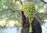 Embossed Leaves Hooded Hat - Bonita Patterns