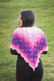 Embossed Leaves Reversible Shawl - Bonita Patterns