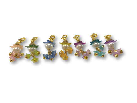 Flowering PF - #060 Set of 7 Stitch Markers - Bonita Patterns