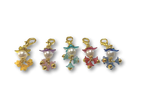 Flowering PF - #061 Set of 5 Stitch Markers - Bonita Patterns