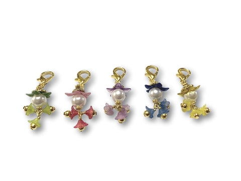 Flowering PF - #062 Set of 5 Stitch Markers - Bonita Patterns