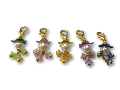 Flowering PF - #063 Set of 5 Stitch Markers - Bonita Patterns