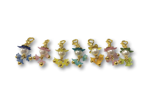 Flowering PF - #064 Set of 7 Stitch Markers - Bonita Patterns