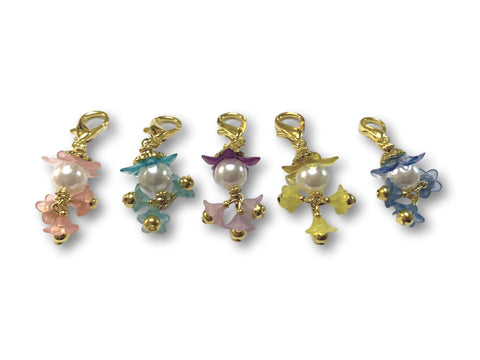 Flowering PF - #065 Set of 5 Stitch Markers - Bonita Patterns