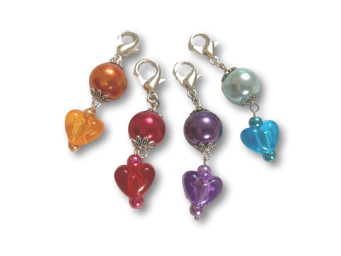 Heart H2 - #003 Set of 4 Stitch Markers
