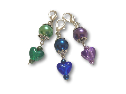 Heart H2 - #006 Set of 3 Stitch Markers
