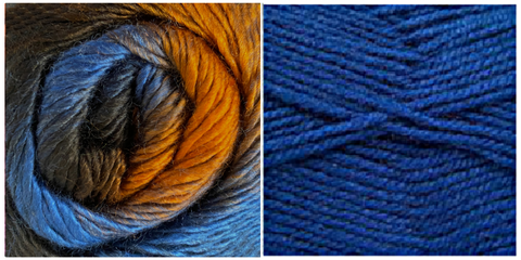 ROYAL BLUE + HAZEL - Embossed Phoenix Scarf KIT