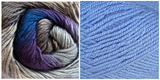 (100% Acrylic) BLUE + HYDRANGEA - Embossed Natura Shawl KIT