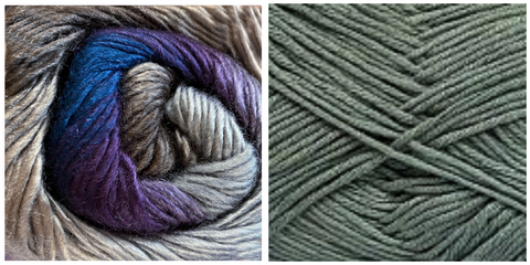 (PREORDER) DARK GREY + HYDRANGEA - Embossed Fall Pocket Shawl KIT