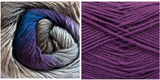 (PREORDER PURPLE) + HYDRANGEA - Embossed Fall Pocket Shawl KIT