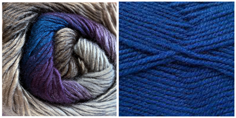 (PREORDER) ROYAL BLUE + HYDRANGEA - Embossed Fall Pocket Shawl KIT