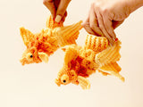 Crocodile Stitch Goldfish Booties (Baby Sizes) - Bonita Patterns