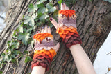 Crocodile Stitch Owl Gloves