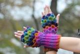 Crocodile Stitch Khaleesi Fingerless Gloves - Bonita Patterns