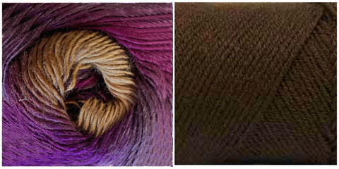 CHOCOLATE + LUPINE (100% ACRYLIC) - Embossed Natura Shawl KIT