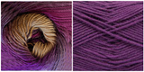 (100% ACRYLIC) PURPLE + LUPINE - Embossed Fall Pocket Shawl KIT