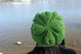 Embossed Leaves Slouch Hat Crochet Pattern