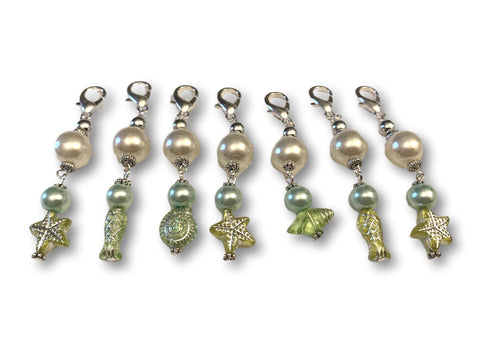Marine S1 - Ref #010 Set of 7 stitch markers - Bonita Patterns