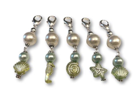 Marine S1 - Ref #011 Set of 5 stitch markers - Bonita Patterns