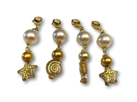 Marine S1 - Ref #023 Set of 4 stitch markers - Bonita Patterns
