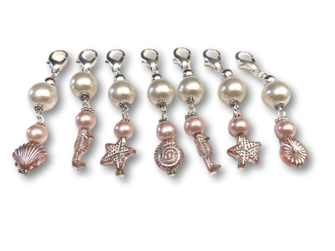 Marine S1 - Ref #034 Set of 7 stitch markers - Bonita Patterns