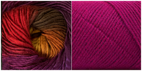 (PREORDER) FUCHSIA + ORCHID - Embossed Fall Pocket Shawl KIT