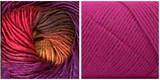 (100% ACRYLIC) LIGHT FUCHSIA  + ORCHID - Embossed Natura Shawl KIT
