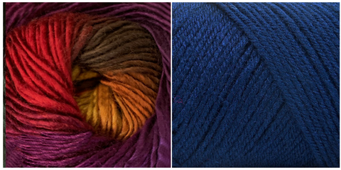 NAVY + ORCHID - Embossed Phoenix Scarf KIT