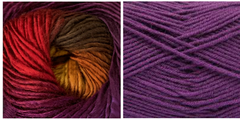 (PREORDER) PURPLE + ORCHID - Embossed Fall Pocket Shawl KIT